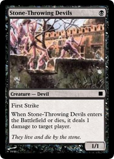Stone-Throwing Devils