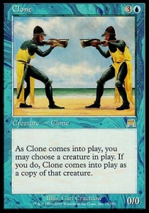 """Clone"" from Onslaught, Illus. Carl Critchlow, (c) Wizards of the Coast"