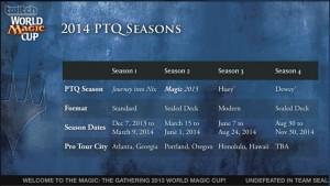 2014 PTQ Seasons