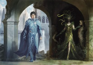 Jace vs Vraska - Art