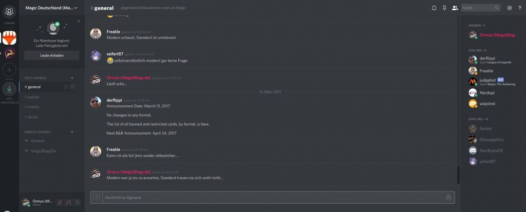 Deutscher Magic Discord Server gestartet
