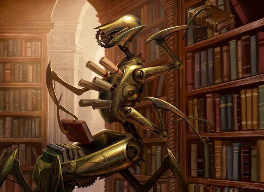 Cogwork-Librarian-MtG-Art