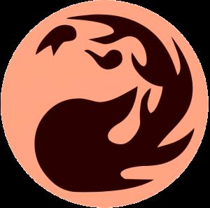 Rotes Manasymbol