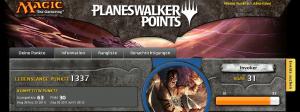 Planeswalker Punkte…